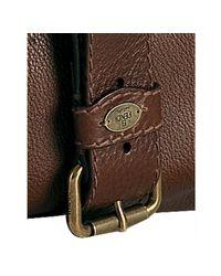 Fendi | Brown Leather Selleria Messenger Bag for Men | Lyst