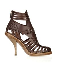 Givenchy | Brown Woven Leather Sandals | Lyst