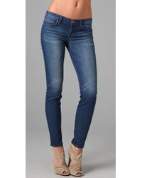 J Brand | Blue Low Rise Skinny Jeans | Lyst