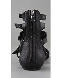 Joe's Jeans - Black Marvel Strappy Flat Sandals - Lyst