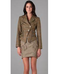 L.A.M.B. | Green British Plaid Jacket | Lyst