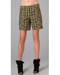 L.A.M.B. | Green Plaid Shorts | Lyst