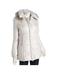 Mackage | White Ivory Quilted Willow Fur Trimmed Hooded Jacket | Lyst
