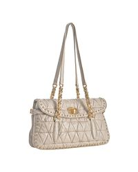 Miu Miu | Purple Mauve Quilted Lambskin Studded Shoulder Bag | Lyst