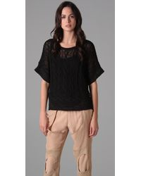 Rag & Bone | Magee Short Sleeve Sweater in Black | Lyst