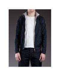 Moncler Blue Hooded Jacket for men