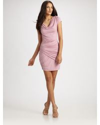 Catherine Malandrino | Pink Ruched Dress | Lyst