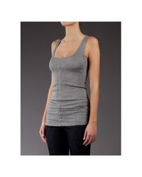 Duffy - Gray Ribbed Vest Top - Lyst