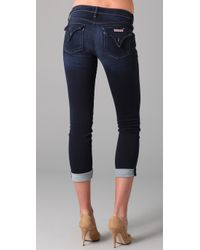 Hudson Jeans - Blue Bacara Stockport Cropped Straight-leg Jeans - Lyst