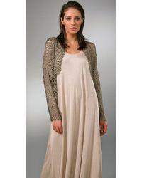 Rachel Roy | Metallic Crochet Cardigan | Lyst