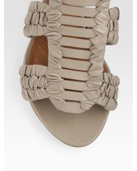 Givenchy | Black Virginia Woven Leather Sandals | Lyst