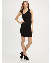 Halston - Black Cutout Dress - Lyst