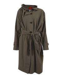 Vivienne Westwood Red Label | Green Nylon Ruffle Collar Coat | Lyst