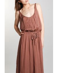 Giada Forte | Brown Silk Maxi Dress in Rosa | Lyst