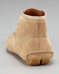 Prada | Brown Perforated Suede Chukka Boot for Men | Lyst