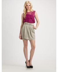 Nanette Lepore | Purple Tuckered Out Top | Lyst