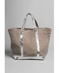 Vanessa Bruno | Natural Sequin Detail Canvas Tote Bag | Lyst