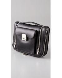 3.1 Phillip Lim | Black Fannie Zipper Leather Clutch | Lyst