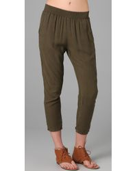 Current/Elliott - Green The Lounge Trousers - Lyst