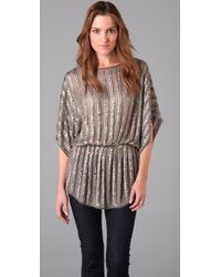 Parker - Gray Batwing Tunic - Lyst