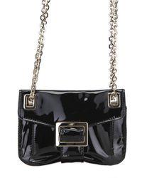 Roger Vivier | Black Patent Metro Micro Shoulder Bag | Lyst