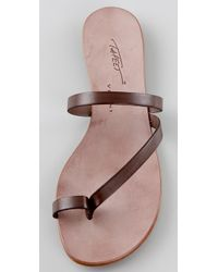 Tapeet - Brown Toe Ring Flat Sandals - Lyst