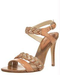 Alexandre Birman | Natural Braided Two-tone Platform Sandals | Lyst