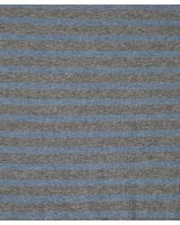 A.P.C. | Gray Grey & Blue Breton Stripe Sweater for Men | Lyst