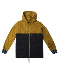 A.P.C. | Blue Navy Two Tone Hooded Jacket for Men | Lyst