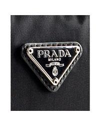 Prada - Black Creased Nylon Medium Zip Case for Men - Lyst