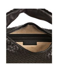 Bottega Veneta | Black Woven Leather Belly Veneta Hobo | Lyst