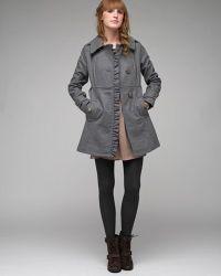 Tulle | Green Asymmetrical Ruffle Coat | Lyst