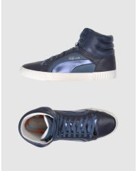 Alexander McQueen X Puma | Blue High-top Sneaker for Men | Lyst