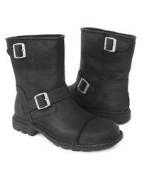 UGG Black Rockville Leather Boot for men