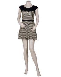 Elizabeth and James - Black Vanessa Sleeveless Stripe Dress - Lyst