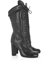 Belstaff - Black New Agnes Lace-up Leather Boots - Lyst