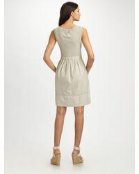 James Perse | White Cotton Scoopneck Dress | Lyst