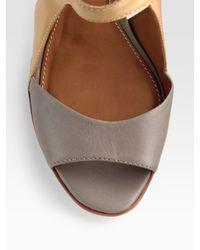 Leifsdottir | Brown Two-tone Platform Sandals | Lyst