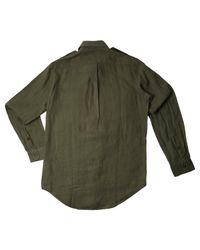 Polo Ralph Lauren | Green Olive Linen Shirt for Men | Lyst