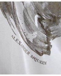 Alexander McQueen | White Gold Moth Print T-shirt | Lyst