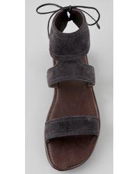 Calvin Klein | Gray Luisa Suede Sandals | Lyst
