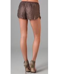 Dallin Chase - Brown Sebastian Sequined Shorts - Lyst