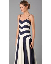 MILLY | Blue Sleeveless Anais Hostess Dress | Lyst