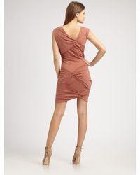 Obakki | Pink Morgan Gathered Dress | Lyst