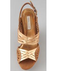 Twelfth Street Cynthia Vincent | Metallic Jaden Suede Wedge Sandals | Lyst
