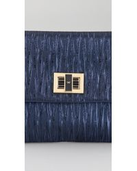 Anya Hindmarch - Blue Valorie Clutch - Lyst