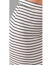 Bec & Bridge - White Cross My Heart Striped Long Skirt - Lyst