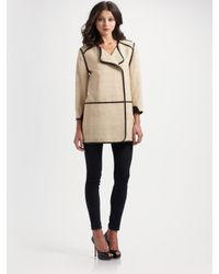 By Malene Birger | Natural Anatina Leather-trim Coat | Lyst