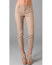 Club Monaco | Natural Renay Cropped Pants | Lyst