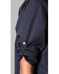 DKNY   Blue Pure Dkny Shirtdress   Lyst